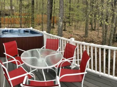 Photo for Spacious home with a private hot tub and mountain views! Near skiing and river!
