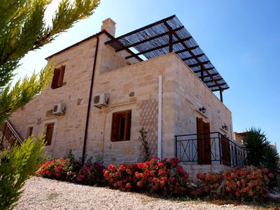 Photo for Beautiful Stone Family Villa with fantastic Sea Views and  Private Pool