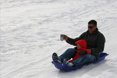 Fun sledding opportunities out front & back & many more within walking distance.