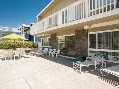 Photo for Steps to the Sand Large Private Patio With Beach View Lower Unit With Parking