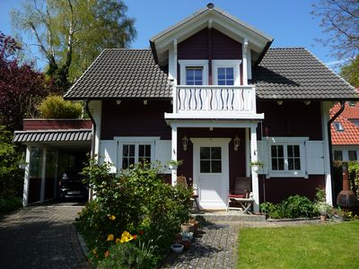 """Photo for """"Pony house"""" - wooden cottage in the Swedish style right on the sea"""