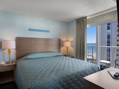 Photo for Spacious Ocean View 2 Bedroom Condo + Official On-Site Rental Privileges
