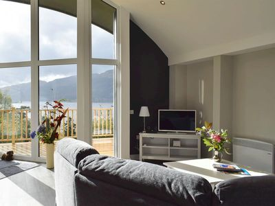 Photo for Unique Lodge with Panoramic Views over the Loch and surrounding mountains