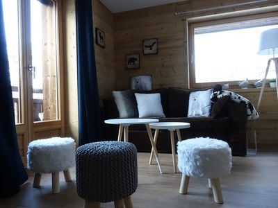Photo for Nice apartment T2 NEW 4/6 people in chalet village center