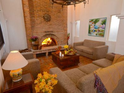 Photo for Luxury Suite near Lake Chapala w/ Private Terrace, Heated Pool & Fireplace
