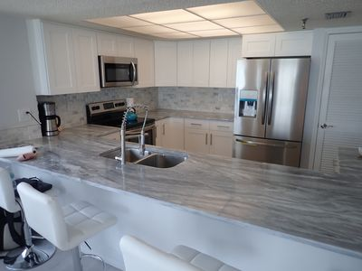 Photo for Beachfront  2bed/2bath unit with Fireplace and Master Jacuzzi