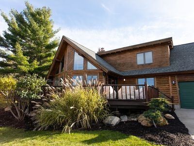 Photo for Stunning Bayview Boulder Lodge-Traverse City-Luxury Log home
