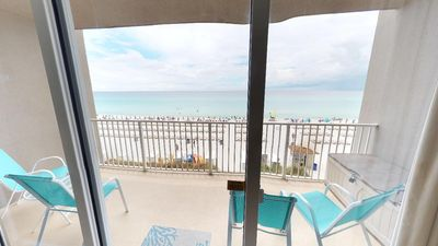 Balcony looking over the beach - The reason everyone come to PCB