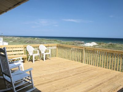 Photo for Oceanfront 4 bedroom 3 bath House Pet friendly with WIFI , W/D and an Oceanfront Deck
