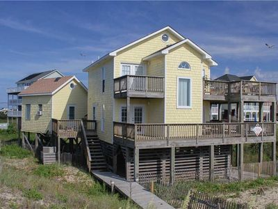 Photo for Beachfront location w/ lots of outside living, HotTub, RecRoom, PetFriendly