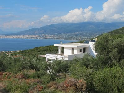 Photo for Luxury villa with private heated pool and stunning sea views.