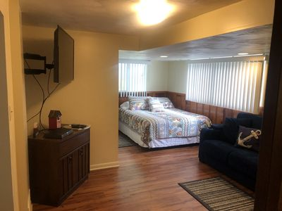 """Photo for """"Deja Blue"""" unit 5, 1 Bedroom, lower level Condo on the Lake; Holly Hok Rentals"""