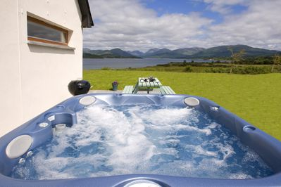 Soak up the scenery from the hot tub.