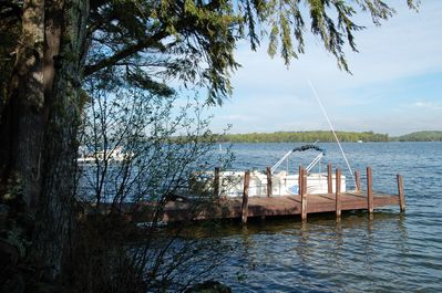 Private dock accommodates two 24 foot boats