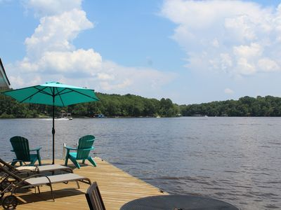 Photo for Off season rates now in effect! Lakefront house with private dock!