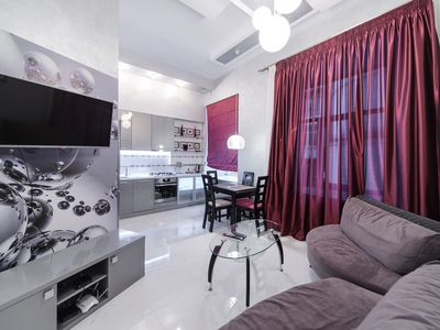 Photo for VIP 1-bedroom apartment with jacuzzi in Kyiv downtown