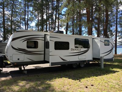 Photo for 32' Luxury Camper - Delivered to your campsite