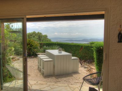 Photo for Villa 8 people sea view on gulf of St Tropez with swimming pool