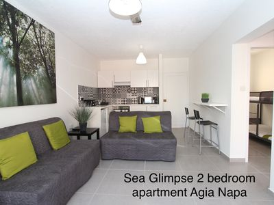 Photo for Gr8padz. Sea Glimpse 2 bedroom apartment. Central Agia Napa