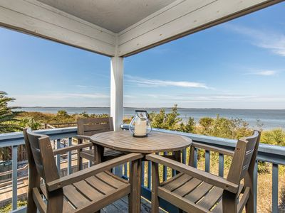 Photo for Beachfront Condo with Corner Balcony with Stunning Sunsets over the Savannah River