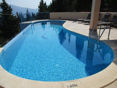 Large infinity swimming pool