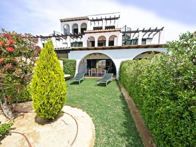 Photo for Villa in fabulous gardens, sea-views, twin pools & beach at just 200m