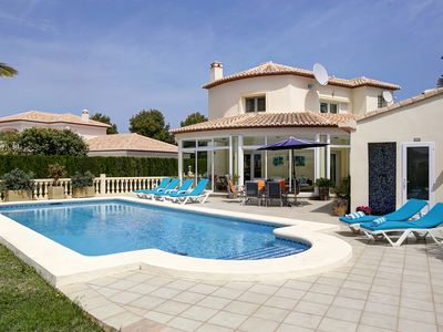 Photo for La Sella family friendly villa with private pool and private garden and parking