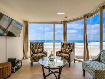 Photo for Spacious, waterfront condo w/ balcony overlooking the boardwalk - dogs welcome!