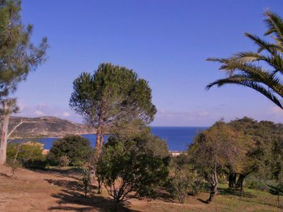 Photo for Quiet villa in a scrubland, wonderful sea view, near the town and the beaches