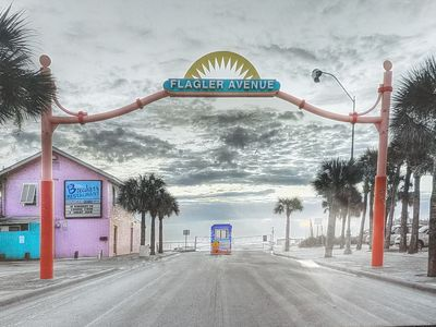 Photo for New Smyrna Beach downtown Flagler Ave over looking the strip. Amazing location
