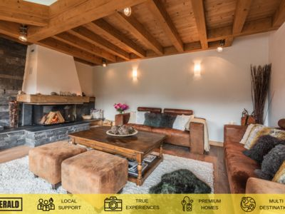 Photo for OMAROO I - Luxury chalet with fireplace, outdoor jacuzzi and breathtaking view, capacity of 10