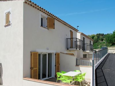 Photo for Cosy apartment for 8 guests with WIFI, A/C, pool, balcony, pets allowed and parking