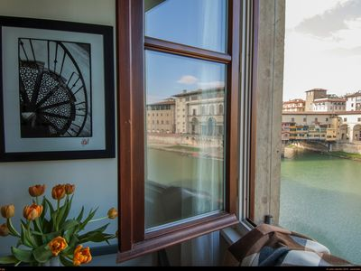 Photo for Amazing Views of Ponte Vecchio and Uffizi - Extremely silent - Modern - WiFi