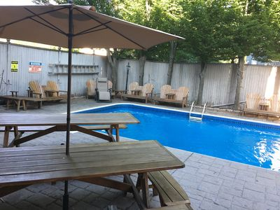 Outdoor builtin pool and deck