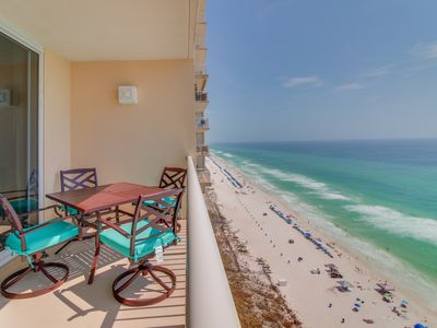 Photo for Oceanfront resort w/ pool, sauna, hot tub, tennis, views! Great for couples!