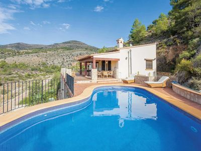 Photo for 4 bed villa w/ stunning views, pool table, private pool & peaceful location.