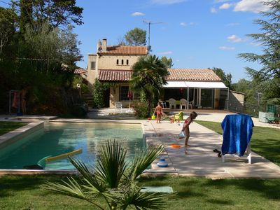 Photo for A fully equipped villa with pool and garden in the middle of the forest