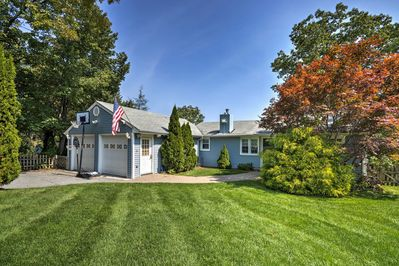 The lakefront property boats 1,600 square feet and a beautifully manicured lawn!