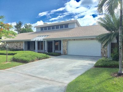 Photo for Steps to Dog Friendly Private Beach, Home with pool & jacuzzi, gated community