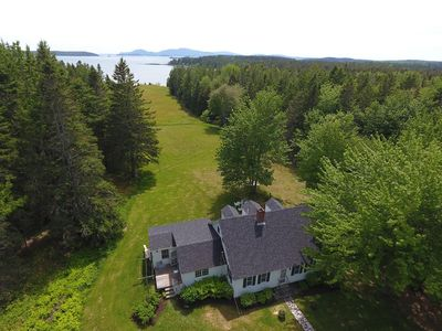 Photo for Frenchman Bay Rustic Estate on Water with Mt. Desert Island (MDI) Views