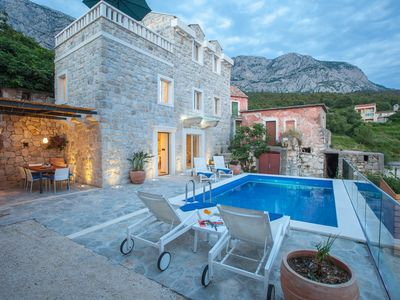 Photo for NEW! Stone house with pool, beautiful sea-view terrace with two bedrooms