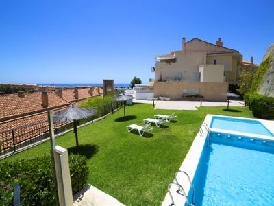 Photo for Altea la Vella Apartment, Sleeps 4 with Pool, Air Con and Free WiFi