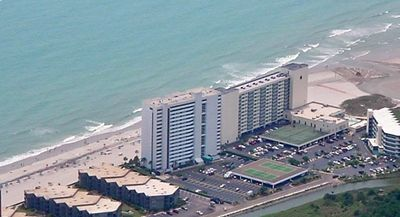 Aerial view of the Brigadune- right on the ocean!