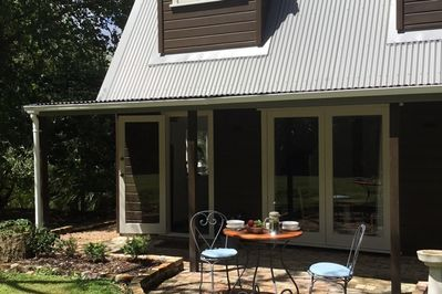 Cottage and patio