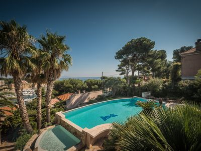 Photo for exceptional villa sea and harbor view with pool