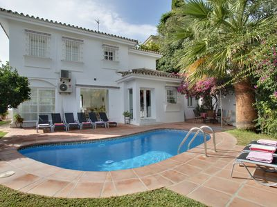 Photo for Puerto Banus villa sleeps 10. Great September value. HEATED POOL. WiFi