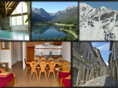Photo for Saint Lary Soulan 4 * 10 people wifi pool sauna spa