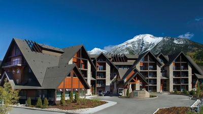 Photo for Mountain view retreat - 1 BR Canmore condo w/pool, waterslide & hot tub