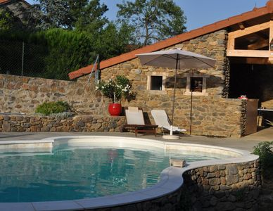 Photo for Gite with swimming pool, in Blassac, Furnished accomodation 3 étoiles, 6 people