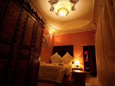 Photo for Double Bed Room at Riad Layalina: Pool, 360° View & Free Secure Parking at Foot